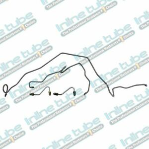 1984 85 Camaro Firebird Trans Am Preformed Front Brake Line Kit Set 4pc Oe Steel