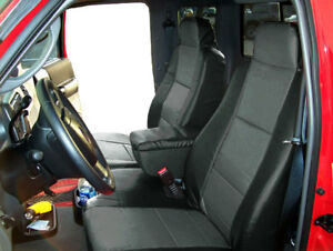 Ford Ranger 2004 09 Black Charcoal Leather Like 2 Front Seat Console Covers