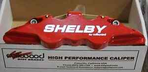 2005 14 Mustang Wilwood Red Caliper Silver Shelby 6 Piston Front Big Brake Kit