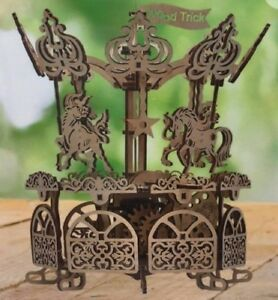 Carousel Wooden Puzzles 3d Mechanical Models Us Seller