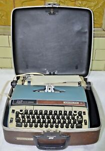 Vintage Electric Smith Corona Electra 210 Typewriter W Case Tested Working