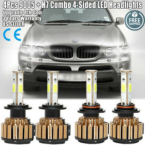 9005 H7 Led Car Headlight 80000lm High Low Beam Bulbs For Bmw X5 528i 540i