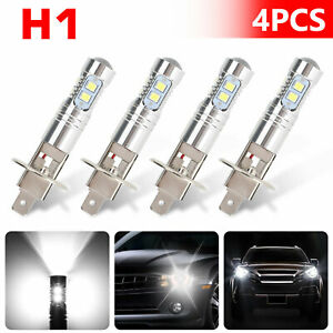 4x Xenon H1 Cree Led Headlight Fog Driving Drl Light Bulb 6000k Super White 200w