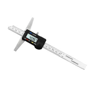 150mm 6 Digital Depth Gauge Stainless Steel Body 150mm Depth Measurement