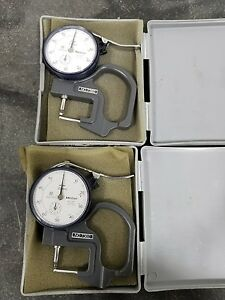 Mitutoyo Dial Thickness Gauge 0 10mm 7360 2391sr