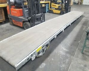 Cincinatti Milacron 25 X 41 Smooth Flat Belt Conveyor 4050sr