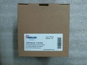 Factory Sealed Weiler 51313 Qty 10 Tiger Angled Flap Discs 60 Day Warranty