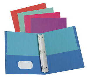 Oxford Twisted Pocket Folder With Fasteners 11 X 8 1 2 Inches 2 Pockets