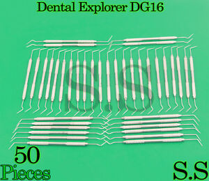 Set Of 50 Dental Diagnostic Probe Endo Explorer Dg 16 Double Ended Instruments