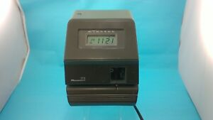 Acroprint 175 Electronic digital Time Clock Stamp punch recorder Locked no Key