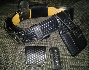 Bianchi Accumold Basketweave Duty Belt Size 32 With Accessories