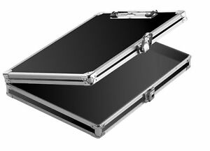 Clipboard With Storage Case Locking Box Aluminum Chrome Clip Boards Vintage New