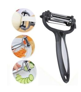 Stainless Steel 3 In 1 Rotary Fruit Vegetable Potato Peeler Cutter Slicer