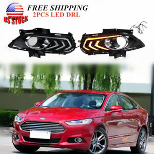 Drl For Ford Fusion Mondeo 13 15 Led Daytime Running Light Fog Lamp Turn Signal