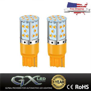 Us Car Led Light Amber 7440 21w Turn Signal Lamp No Hyper Flash No Modification