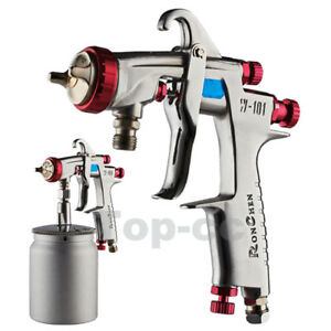 W 101 Suction Feed Hvlp Spray Gun 1 3mm H2 Nozzle Cup Replace Anest Iwata W 101