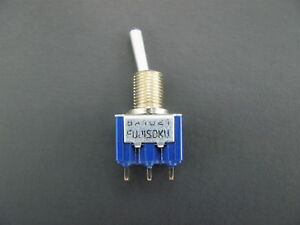 Spdt Toggle Switch On off on 6a 125v Pc Pin Terminals Fuji 8a1021a
