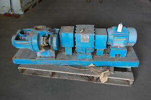 Tuthill Lobe Pump Model 330 di W Reliance 10 Hp Motor