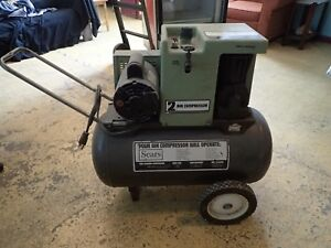 Sears 2hp 2 cyl Air Compressor 220v Single Phase 125psi 20 gallon Tested Working