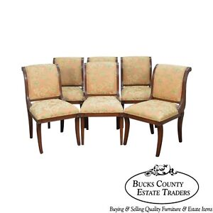 Regency Style Mahogany Set Of 6 Dining Chairs By Italmond