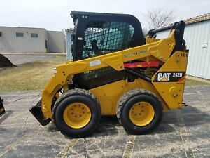 2015 Caterpillar 242d Bob Cat Cab A c Skid Steer Loader Quick Attach