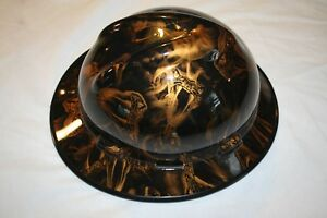 Custom Msa V gard full Brim Hard Hat W fas Trac Ratchet Viper Gold