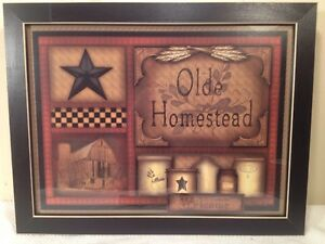 12 X 16 Framed Olde Homestead Print Country Primitive Home Decor