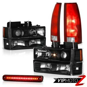 94 98 Silverado 3500 Red High Stop Light Tail Lamps Parking Bumper Headlamps