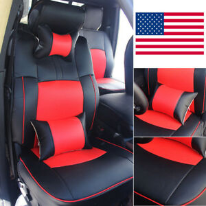 For 2009 2018 Dodge Ram 1500 2500 Car Seat Cover Front rear Pu Leather Cushion