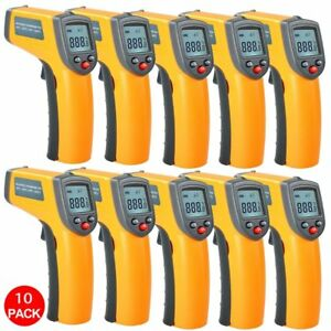 10pc Gm320 Temp Gun Non contact Infrared Ir Laser Digital Thermometer Tester Kz