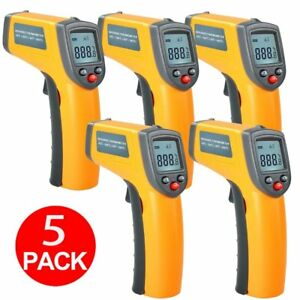 Qty 5 Handheld Non contact Thermometer Temperature Laser Gun Infrared Ir Lcd Kz
