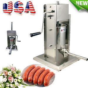 5l 11lbs Sausage Stuffer Vertical Stainless Meat Filler Press Commercial Use Fda