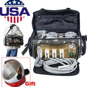 Dental Unit With Air Compressor Suction System 3 w Syringe Camouflage Leb Device