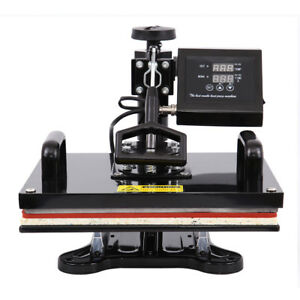 8 In 1 Swing away Heat Press Machine Sublimation T shirt Mug Cap Hat Cup Plate