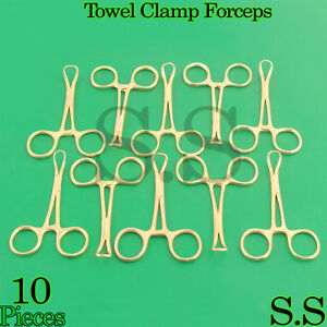 10 Backhaus Towel Clamp 3 5 Full Gold Surgical Instruments