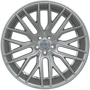4 Gwg Wheels 22 Inch Silver Flare Rims Fits Ford Shelby Gt 500 2007 2018