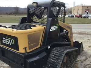 Asv Skid Steer Loader Pt60 Cat perkins Eng New Tracks 700 Hrs Choose Bucket