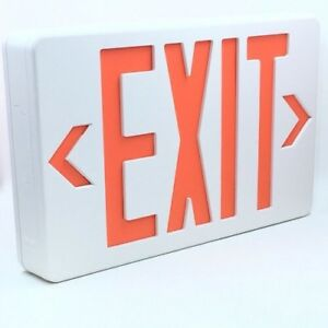 Led Exit Sign Emergency Led Light Plastic Double single Face Red Lettering 4