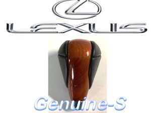 Oem 2007 2012 Lexus Es350 Ls460 Ls600h Medium Walnut Wood Leather Shift Knob