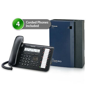 Panasonic Kx tda50g dt543 Hybrid Ip Pbx Telephone System And 4 Digital Phones