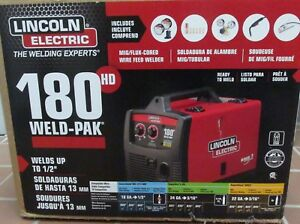New Lincoln Electric Weld pak 180 Hd Mig flux cored Wire Feed Welder K2515