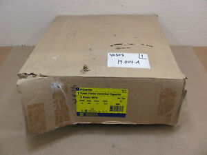 Nib Square D Pfcd4010rf Power Factor Capacitor 480v 10kvar Fused Nema 3r 12a 3ph