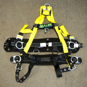 Miller 650 89 s myk Yellow Non stretch Tower Climbing Harness Small medium