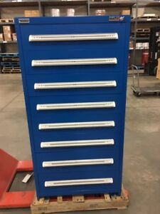Vidmar 8 Drawer Locking Cabinet Xscu3163al