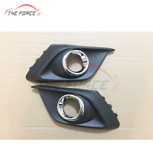 1pair Front Bumper Fog Lights Lamps Housing Cover For Mazda 3 Axela 2014 2016
