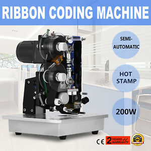 Ribbon Coding Machine Hot Stamp 10 100times min Temperature Adjustment Excellent