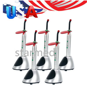 5 X Dental Wireless Led Orthodontics Curing Light Model Ys c 2700mw c Usps