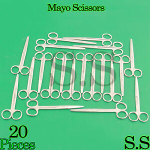 20 Mayo Dissecting Scissors Straight 6 Surgical Instruments