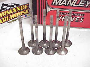 8 Manley 11 32 Titanium Exhaust Valves 5 550 Long 1 600 Head 18 Sb Chevy