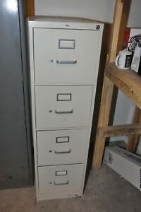 Geneva 4 Drawer Vertical Locking Letter File Cabinet 26 5 Deep Drawer W keys